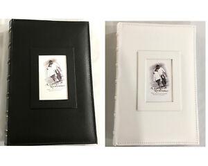 300 Pockets Slip Photo Album w Memo Note Area Family Friends Wedding Black/White