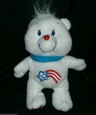 """8"""" AMERICAN RED WHITE BLUE SHOOTING STAR CARE BEAR STUFFED ANIMAL PLUSH TOY DOLL"""