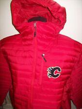CALGARY FLAMES Hooded Puffer Nylon Jacket  RED 2X