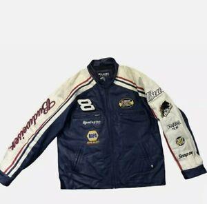 Vintage Dale Earnhardt Jr. Wilsons Leather Jacket Nascar Budweiser Size XL EUC