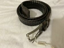 NWT CANALI BELT LEATHER 85 BROWN WEAVE