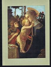 The Virgin, Baby Jesus and Saint John the Baptist - Botticelli -1920 Art Print