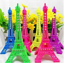 Fashion Rhinestone Diamond Eiffel Tower Sculpture ModelDecors Assorted Color13cm