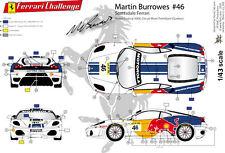 [FFSMC Productions] Decals 1/43 Ferrari F-430 Challenge de Martin Burrowes
