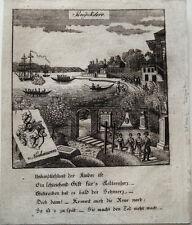 Buyukdere Turquie bosborus Istambul RARE cuivre clés Zittau 1780