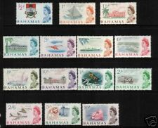 BAHAMAS 1965 QEII PICTORIALS    SET TO 10/-  MLH