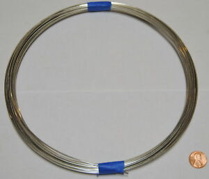 """.080"""" 12 Gauge Shiny Silver Bright Aluminum Craft Wire 50 ft"""