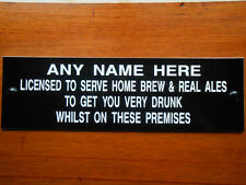 BBQ GARDEN PARTY PUB HOME BAR HOME BREW REAL ALES MAN SHED PERSONALISED SIGN NEW