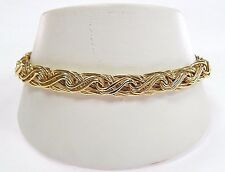 """NWT New With Tags $749 14K Yellow Gold Fancy Woven Bracelet 7.5"""" 14kt Free Ship!"""