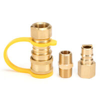 Brass 3/8-Inch NPT Natural Gas Connect Fittings Propane Disconnect Kit K0F2