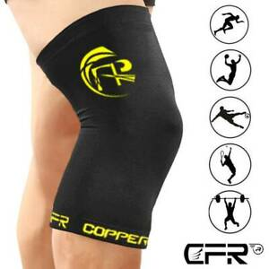 Copper Compression Knee Support Brace Sport Joint Pain Arthritis Wrap Sleeve LMT