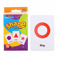 36Pcs Kids Flash Cards Flashcards for Preschool Learning Shape