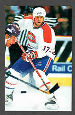 1996-97 Montreal Canadiens Team-Issued Benoit Brunet Postcard-Size Card