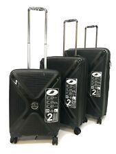 Reisekoffer Koffer Trolley Gepäck Tasche Set luggage Hartschale P.P 240801 Black