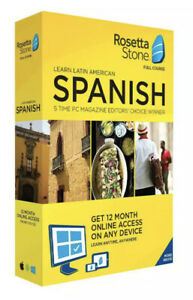 Rosetta Stone Learn UNLIMITED Languages with 1 YR access Latin America 12 Months