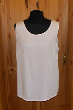 ELVI cream ivory off-white sleeveless satin silky camisole vest tunic top 24 52