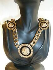 T161...STATEMENT NECKLACE WITH LIONS HEADS - FREE UK P&P
