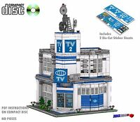 CD TV Studio Lego Custom PDF Book Instructions, Modular Style, #22 with Stickers