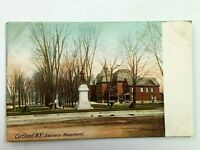 Vintage Postcard 1900's Soldiers Monument Cortland NY New York