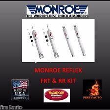 Monroe Reflex  Front & Rear (4) Fits Silverado 1500 Sierra  4X4  911151 911152