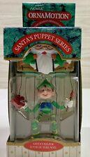 "VINTAGE NOMA ORNAMOTION ORNAMENT Santa's Puppet Series ""Santa's Helper"" NIB 1989"