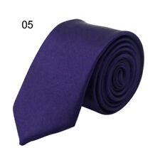 Fashion Classic Skinny Men's Tie Solid Color Plain Silk Jacquard Woven Necktie