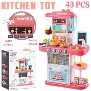 Kids Cooking Kitchen Toy Set Toddler Children Pretend Kitchen Role Play Set NEW