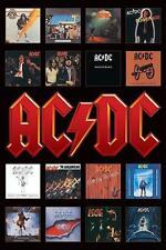 "AC/DC POSTER ""ALBUM COVERS"""