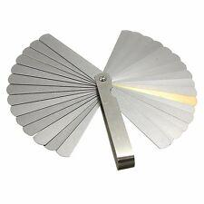 32 Blades Steel Feeler Gauge IN MM Metric & Imperial Thickness Measurement Tool