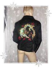 Magnifique Blouson  Léger Noir Dragon Paillettes Balmain Taille 44