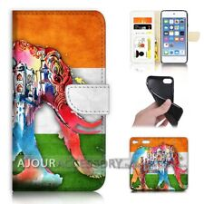 ( For iPod Touch 6 ) Wallet Flip Case Cover AJ40323 India Flag