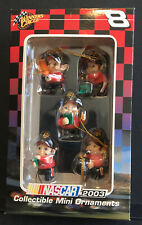 #8 Dale Earnhardt Jr - Elf Pit Crew - 5 Ornaments - 2003 - Winner's Circle - New