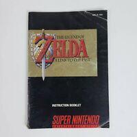 Legend Of Zelda Link To the Past (Super Nintendo, SNES) MANUAL Only
