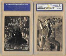 Star Wars Han Solo 23 Kt Karat Gold Card Sculptured Graded GEM MINT 10