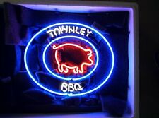 "New Custom Name Bbq Pig Neon Light Sign 24""x20"" Lamp Poster Real Glass Beer Bar"