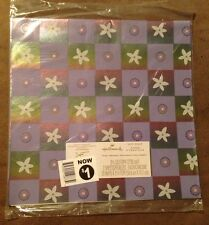 Hallmark Gift Wrapping Paper Purple Flowers Shimmery All Occasion - 2 Sheets