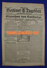 BERLINER TAGEBLATT (23.10.1916): Einnahme von Constanza