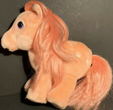 "Vintage My Little Pony Cotton Candy Pink Plush 10"" Stuffed Pony Hasbro Softies"