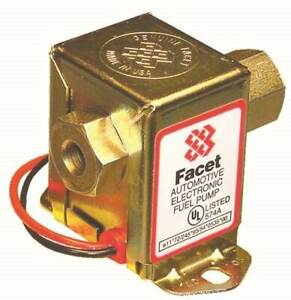 Facet Solid State Electric Fast Road Fuel Pump Kit 12V Upto 150BHP