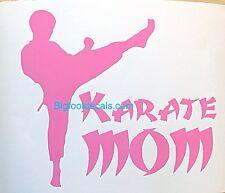 Karate Mom Martial Arts Judo Self Defense UFC Car Truck Vinyl Window Decal A
