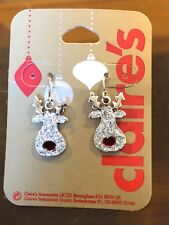 Christmas Xmas Festive Huge Red Bauble Earrings Claires Claire/'s