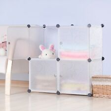 DIY Home Storage Cube Cabinet for Clothes Shoes Bags, Office, White (4) Cubitbox