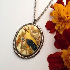 Necklace bird pendant Nature cameo jewellery accessory Ladies jewelry gift