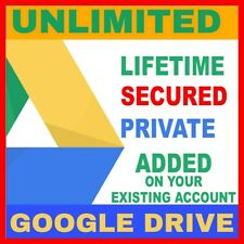Google Drive Unlimited Space✔️ In Your Existing Account✔️ One Time Payment✔️