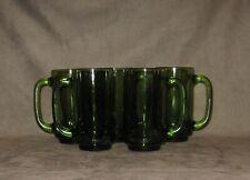 Glass Mug lot of 5, green approx. 5 1/2