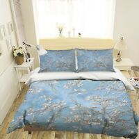3D Plum Blossom NAO2646 Bed Pillowcases Quilt Duvet Cover Set Queen King Fay
