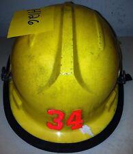 Firefighter Bunker Turn Out Gear Yellow Helmet Reflector Bullard Fh-2100 H126