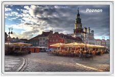 POZNAN - JUMBO FRIDGE MAGNET - POLAND STREET MARKET AT NIGHT POLISH POLSKA