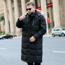 Men's Puffer Coat Hooded Fur Collar Outwear Duck Down Jacket Overcoat XL-10XL