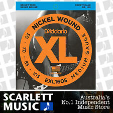 D'Addario EXL160S Nickel Wound Bass Strings Medium 50-105 EXL-160S Short Scale